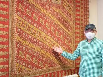 秋田駅前の工芸店で更紗展 17世紀のインド産アンティーク布も