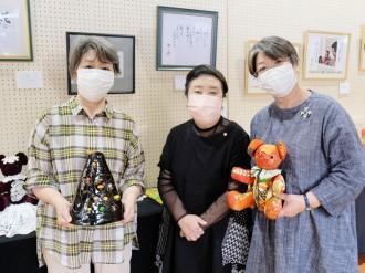 秋田の「幸子」さん3人展 同名女性が創作の楽しみ伝える