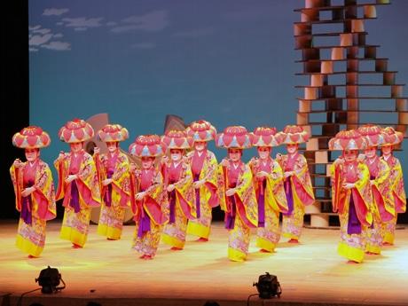 関西琉球舞踊研究所のパフォーマンス