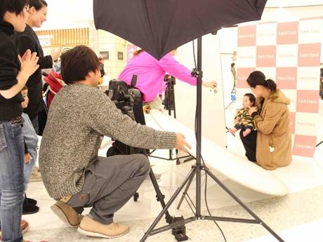 オーディションではプロカメラマンが撮影(イメージ画像)