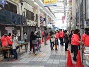 尼崎の三和本通商店街が美術館に 自転車マナー考えるきっかけに