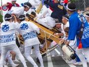 尼崎で「小田太鼓祭り」 4神社で暴れ太鼓の技競う
