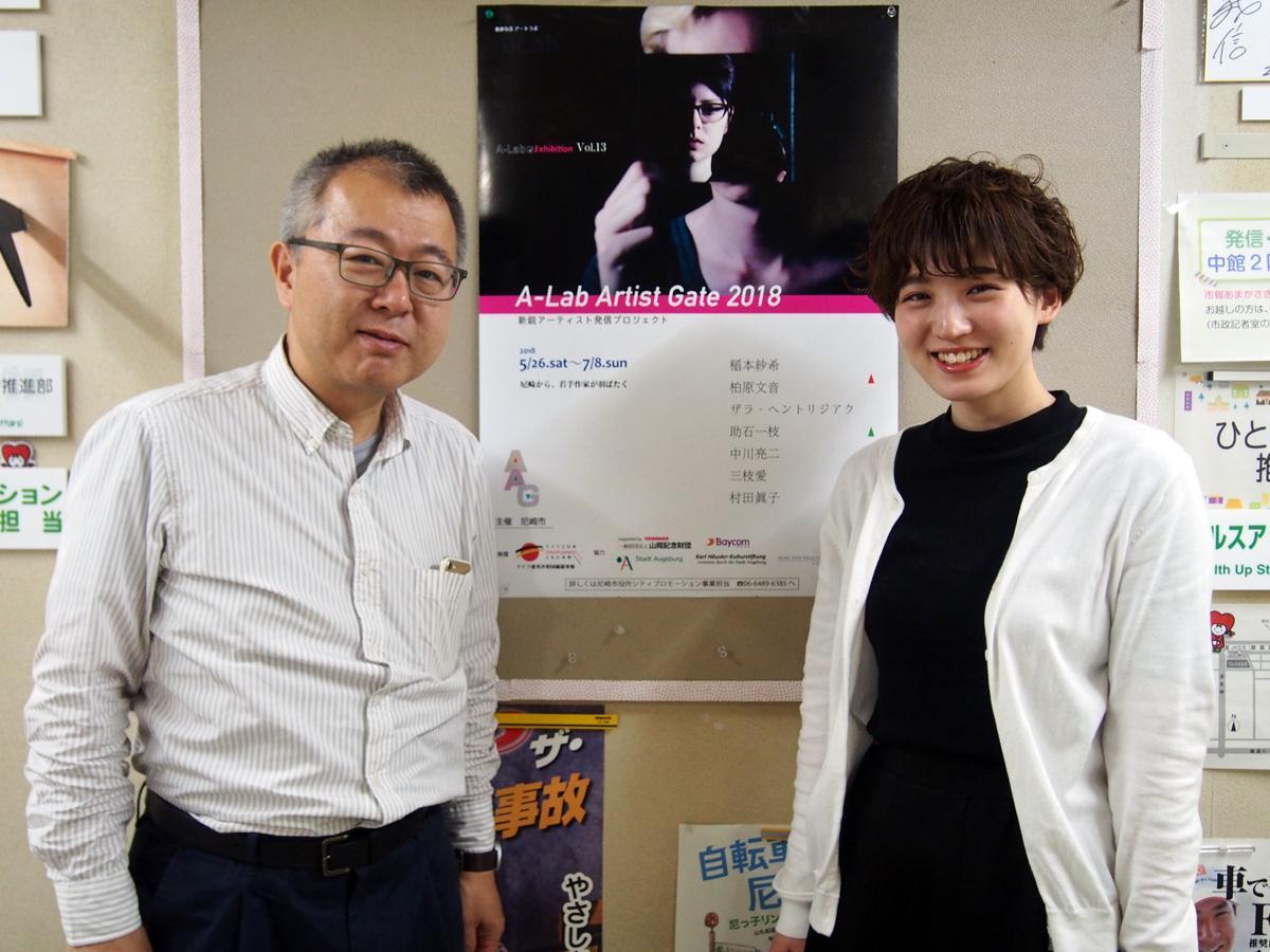 同展担当の松長さんと金子松さん