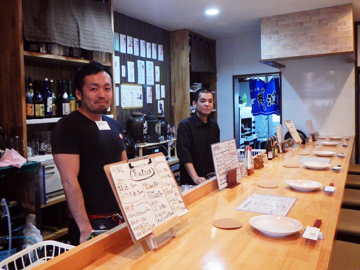店長の西田さん(左)とオーナーシェフの仲村さん