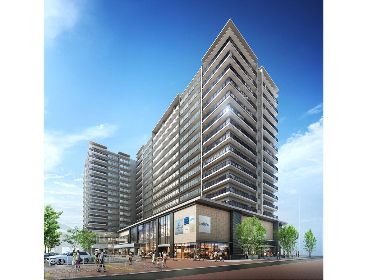 建設中の「プラウド阪急塚口駅前」(イメージ)。担当者は「今回の開発に期待を寄せている方は多い」と話す