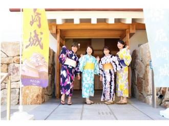尼崎城スタッフが「浴衣姿」でおもてなし オリジナルグッズ進呈企画も