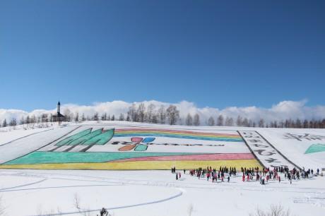 昨年の雪上絵フェスティバルの様子