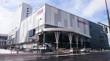 JR旭川駅前で建設が進むイオンモール旭川駅前