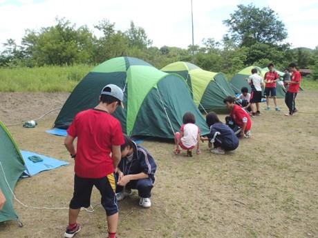 昨年行われたキャンプの様子
