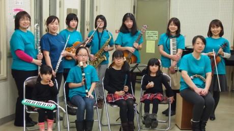 好きな楽器を持参し様々な編成で演奏を行う音ねっと旭川