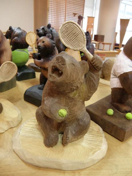 上山さん作の座り熊
