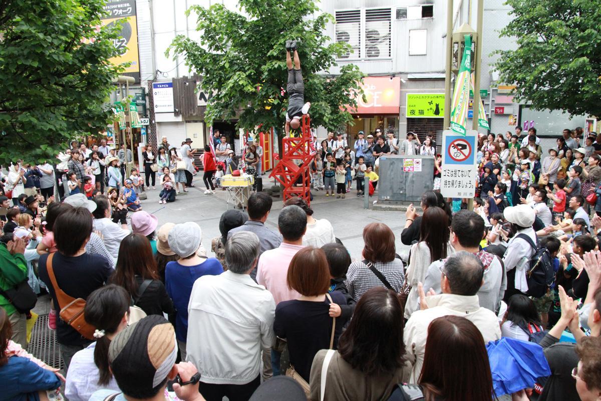昨年の大道芸フェスティバルinあさひかわ2018の様子