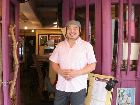 ガンゲット・ラ・シェーブル店長の吉澤和雄さん