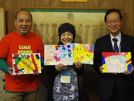 (左から)佐々木義勝さん、Oumaさん、木村和夫さん