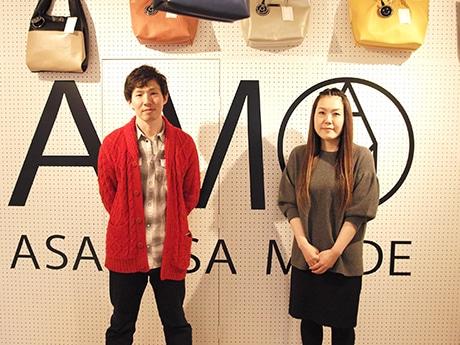 代表の山本賢明さんとデザイナーの八木香央理さん