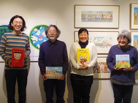 蔵前で絵本作家とアーティストの企画展 刺繍絵本や新聞連載原画、ライブも開催
