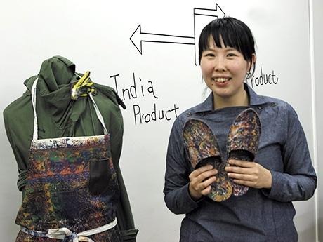 浅草のファッションブランドがインドの工場とコラボ 廃棄される布を製品に