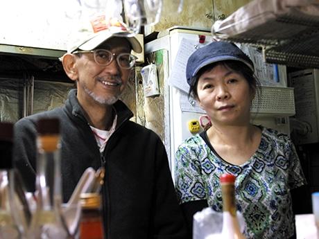 シェフの中塚雅之さんと森泉麻美子さん