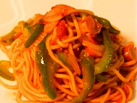 浅草開化楼の麺を使ったオリジナルの「浅草ナポリタン」