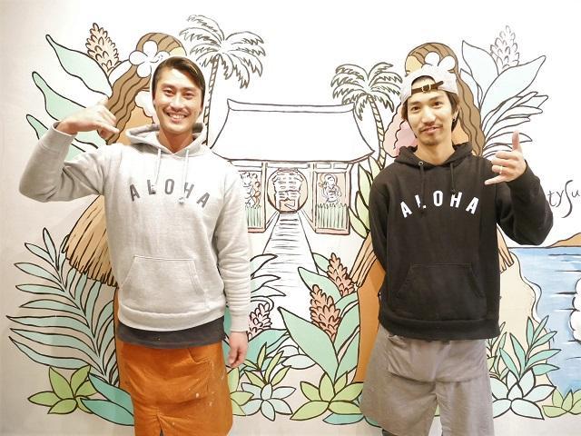 店長の桑原雄二さん(写真左)とスタッフ