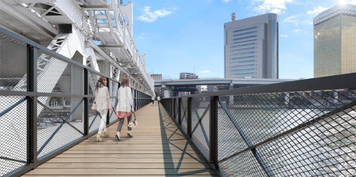 すみだリバーウォーク橋上のイメージ(写真提供=東武鉄道)