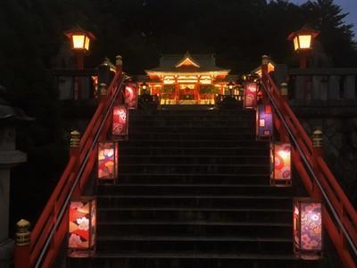 過去の織姫神社ライトアップの様子