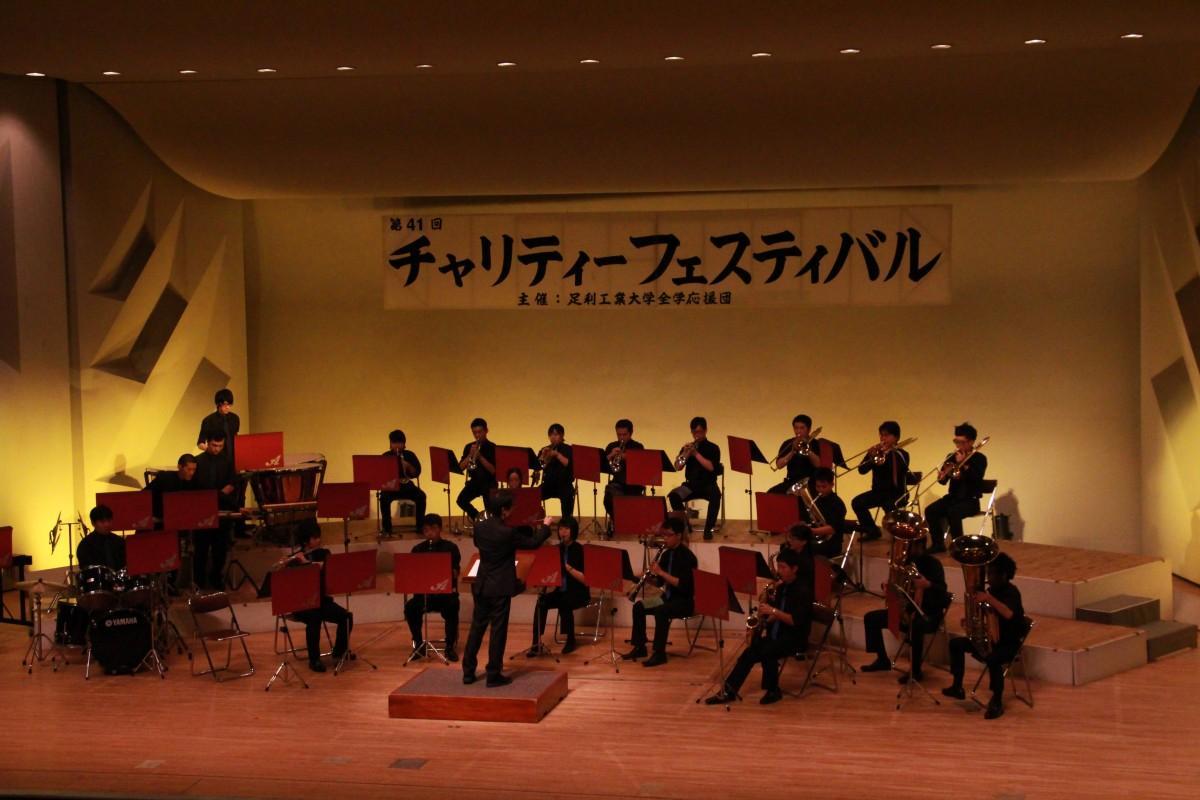 昨年開催時の足利大学全学応援団吹奏楽部の演奏の様子