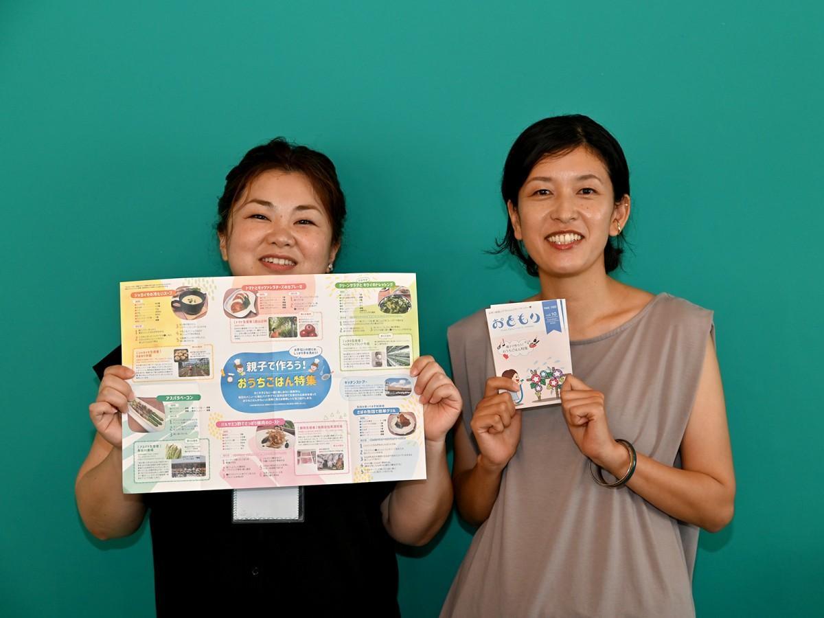 NPO法人「おともり」代表理事の田嶋さん(右)