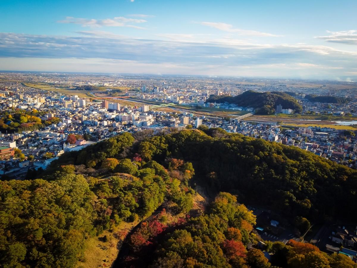 織姫神社から見た足利市の景色(撮影=足利写真部・本田恵大)