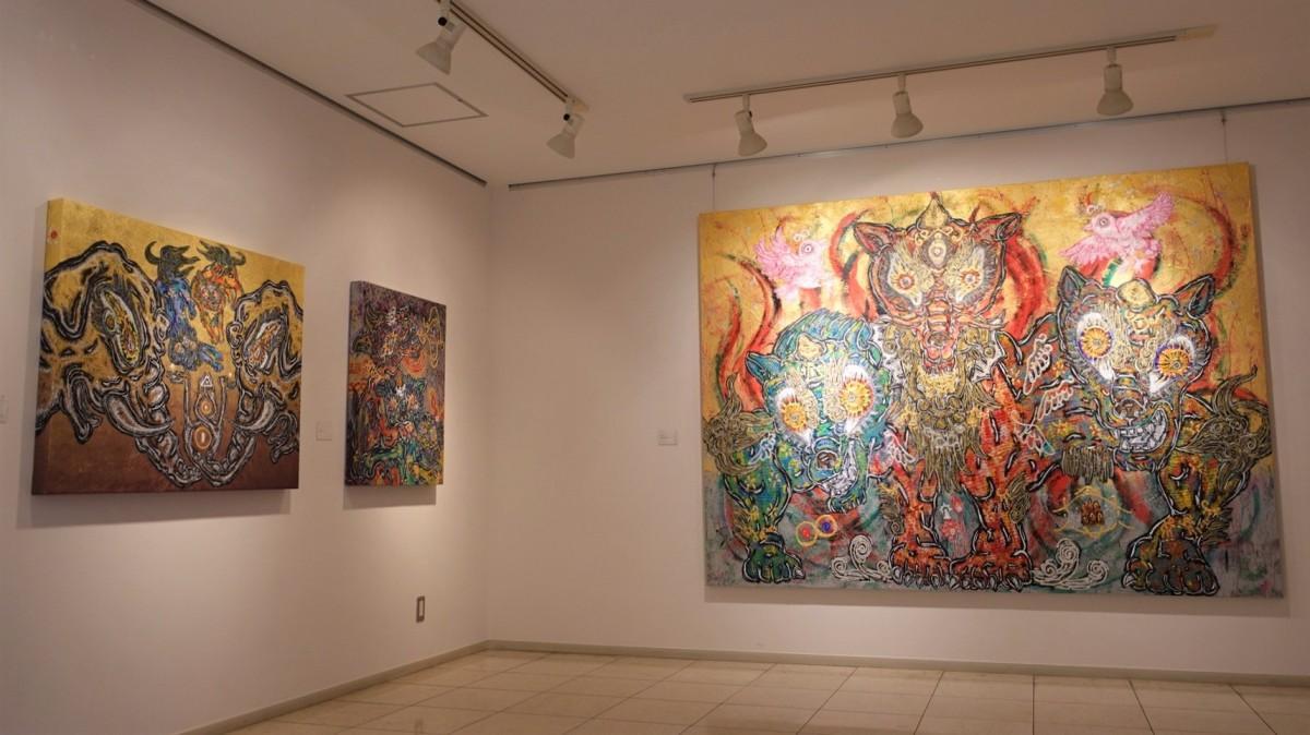 特別展示室 小松美羽さんの作品は今回初展示となるものも