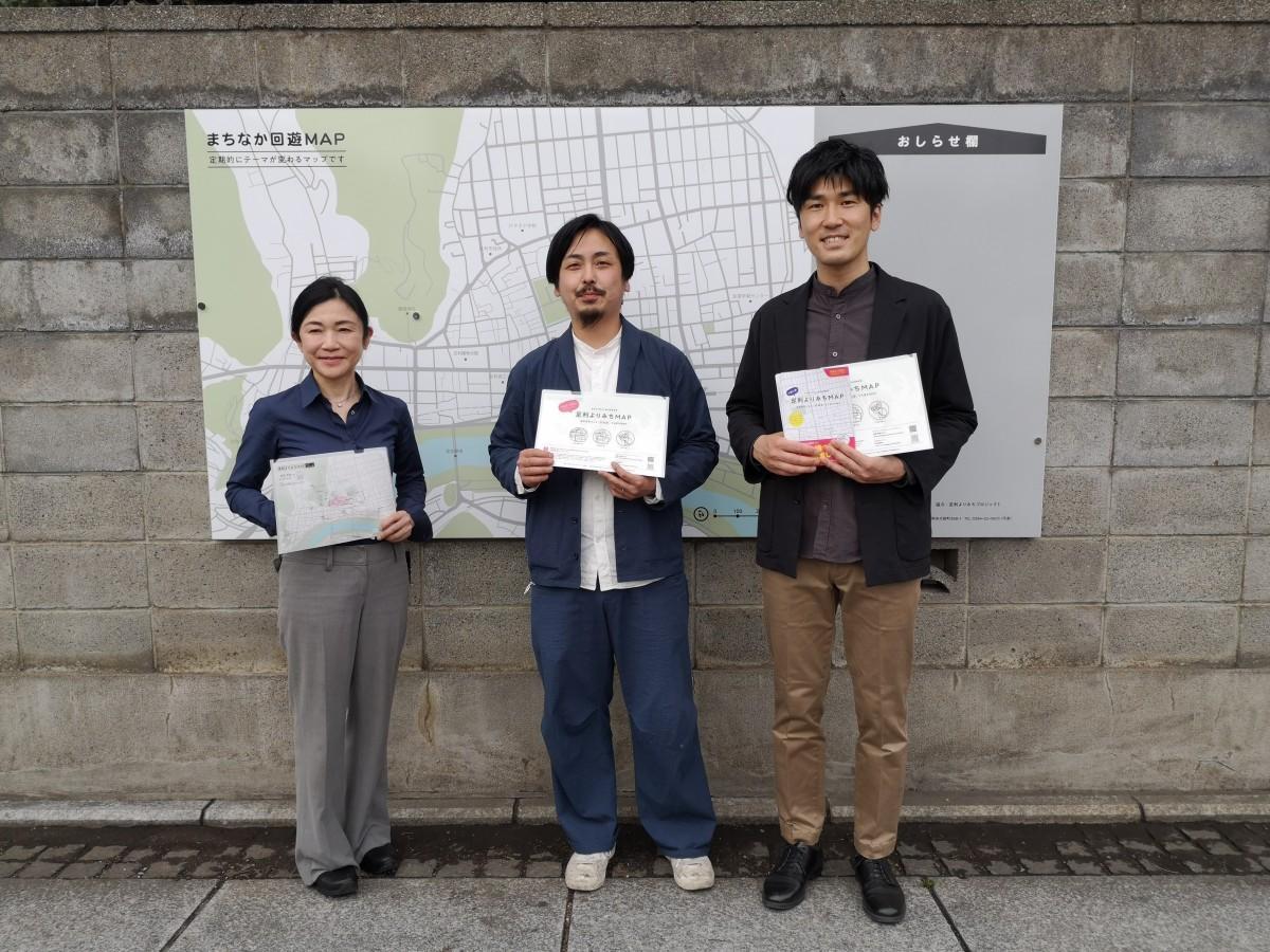 (左から)足利大学渡邉教授、「足利よりみちプロジェクト」代表の梁川さんとデザイナーの鶴見さん
