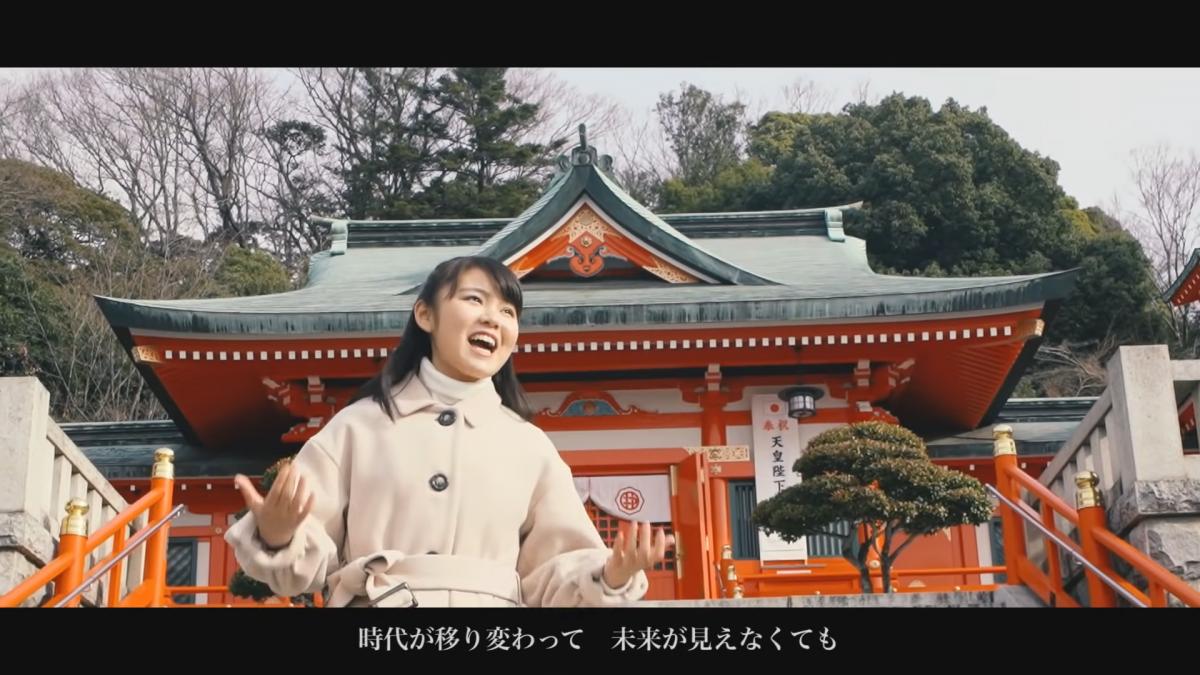 「織姫神社」で撮影された堀優衣さん出演シーン