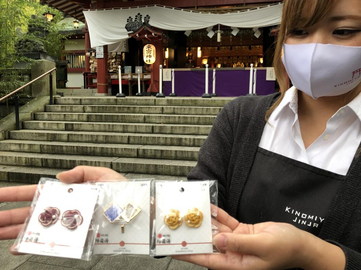 来宮神社の「和アクセサリー」を開発した稲葉麗菜店長