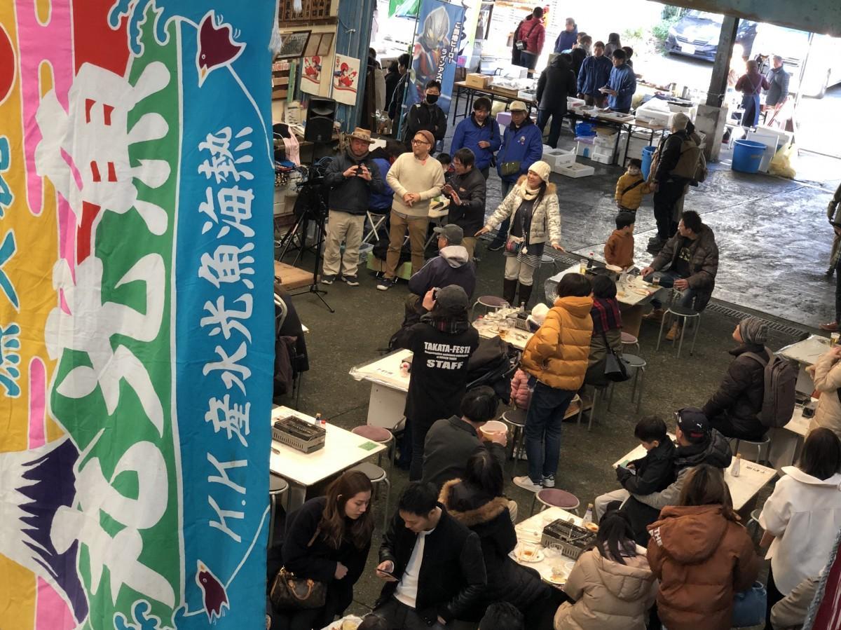 熱海魚市場での魚祭り(昨年の様子)