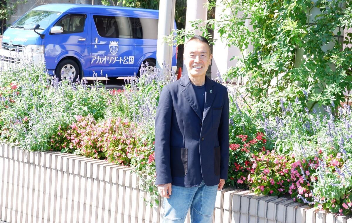 ホテルニューアカオの会長に就任した中野善壽さん