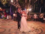 バリ島でカトリック教徒の結婚披露宴