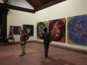 バリ島の美術館で日本人アーティストSIRIUSさんの個展