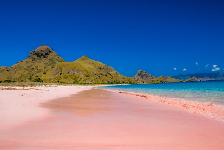リゾートからボートで渡るピンクビーチ