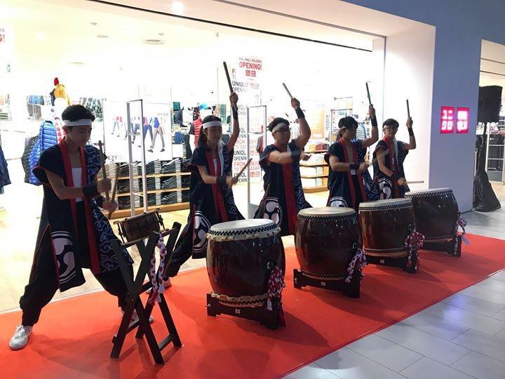 オープニングセレモニー、バリ日本語補習授業校の和太鼓の演奏
