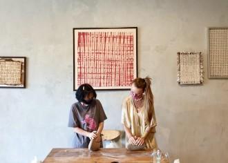 バリ島クタのお茶専門店抹茶わんワークショップ 日本女流陶芸家が指南