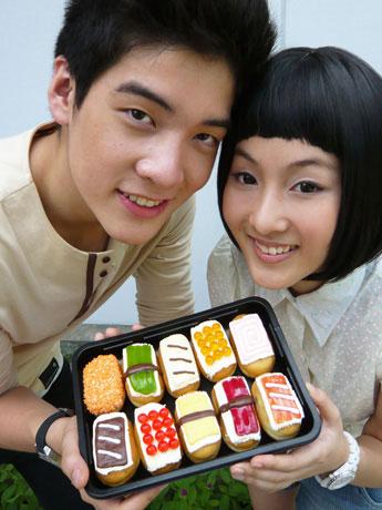 ミスタードーナツのタイ限定商品すし型のドーナツ「SushiDo(スシド)」。