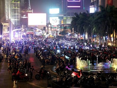 バンコク・モーターバイク・フェスティバル会場(昨年の様子)