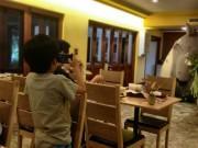トトロが出迎えるメイのレストランのエントランス