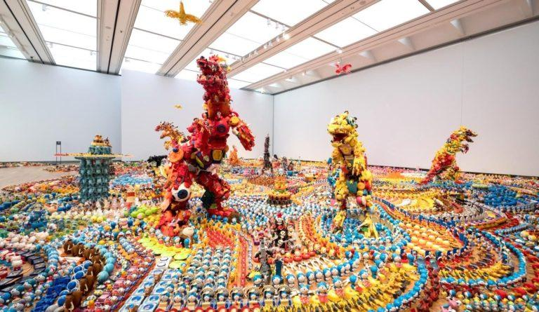 """Jurassic Plastic,"" as a part of the exhibition ""Takamatsu Contemporary Art Annual vol. 07,"" (2018) Takamatsu Art Museum"