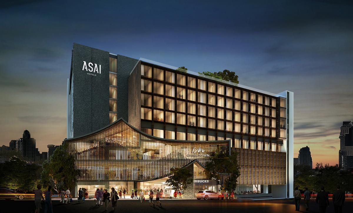「アサイホテル・バンコクチャイナタウン」の完成予想イメージ