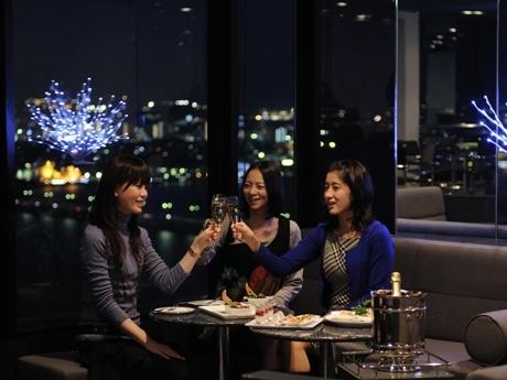 写真=大津プリンスホテル38Fスカイラウンジ「トップオブオオツ」