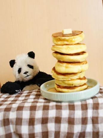 写真=ホットケーキとパンダ