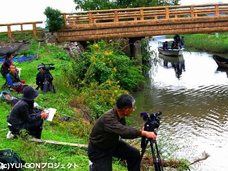 市民製作ドキュメンタリー映画「結い魂(ゆいごん)」から「琵琶湖は死んだ?!」撮影の様子