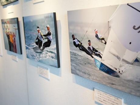 ロンドン五輪セーリング競技から中嶋さん「えりすぐり」の15枚を展示