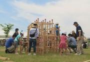 草津川跡地で「キッズフェス」 手作り市、アンパンマンショーも